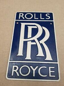 Rolls Royce Car Logo - Cast Iron Sign Plaque 29cm vintage advertising