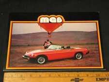 1979 MG MGB Car Catalog Sales Brochure