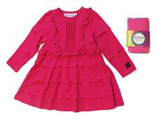 NWT Kidcuteture Girls' Bianca Dress in Magenta and Bonus Tights Set ~ Size 5