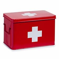 Zeller Present - caja de metal para medicamentos (32 X 19 5 cm) color rojo