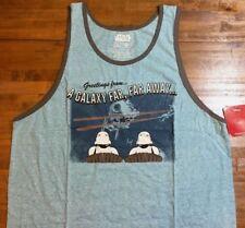 1408ebf6d84bc8 STAR WARS Stormtrooper Death Star Tank Top Shirt - Men s Large L (blue)