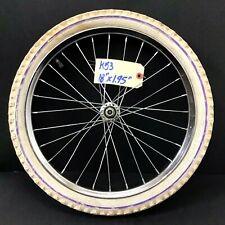 "20"" Bicycle Front Chrome Wheel with 1.95"" White Tire Bmx Kids Bike #k53"