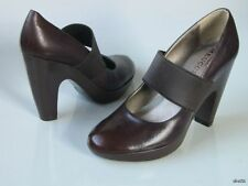 new SESTO MEUCCI brown leather Mary Jane platforms shoes Italy 10 - really cute