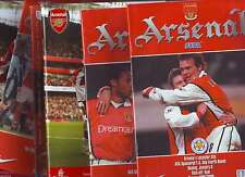 ARSENAL IN CUPS! 6 PROGS ALL LISTED.1999-2000 1 SILLY PRICE! VGC