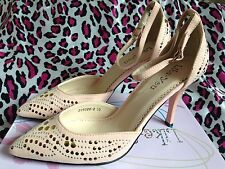 Ladies Peachy Rose Studded Shoes Size 6 With Ankle Strap