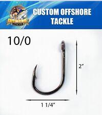 25 Size 10/0 4x Strong Custom Offshore Live Bait Hooks
