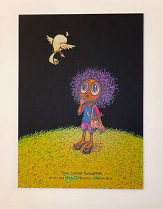 Marq Spusta Art Print Their Second Encounter Signed Mini Silkscreen Black Rubber