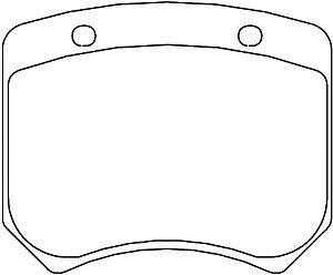 Mintex M1155 AP Racing CP2576 CP2577 CP3176 CP3177 CP3178 Rear Brake Pads