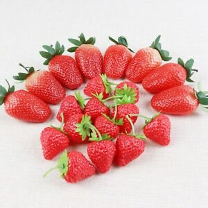 Craft Ornaments Home Decor Artificial Fruit Photography Props Fake Strawberry