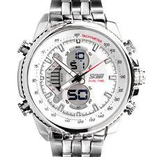 Herren Edelstahl Armbanduhr uhr Quarzuhren Sportuhr Chronograph Uhren Watch