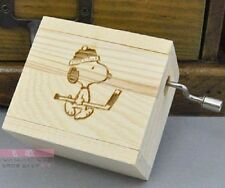 SNOOPY HAND CRANK MUSIC BOX :  CANON IN D