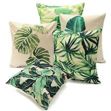 Tropical Plant Floral Leaves Pillow Cases Cotton Cushion Cover Car Home Decor AU