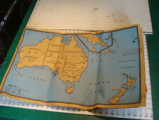 Poster Maps AUSTRALIA NEW ZEALAND etc 1943, 3 maps plus papers.
