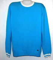 Ermenegildo Zegna Blue Men's Long Sleeve Sweater Shirt Sz XL Cotton Retail $275
