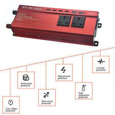 2000W 4000W Caravan Converter Power Inverter DC 12V to AC 230V 240V 4 USB 2 LED