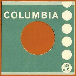COLUMBIA (dark green) REPRODUCTION RECORD COMPANY SLEEVES - (pack of 10)