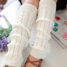 Women Knitted Leg Warmers Boot Socks Crochet Winter Warm Long High Knee Stocking