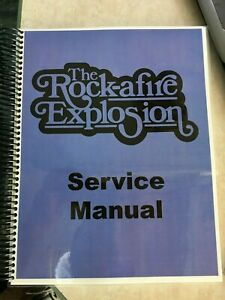 Rock-afire Explosion Service Manual- Brand New!- Autographed and Dedicated