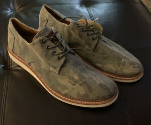 Nwob Toms Brogues Wingtips Mens Size 13 Camouflage Canvas Camo