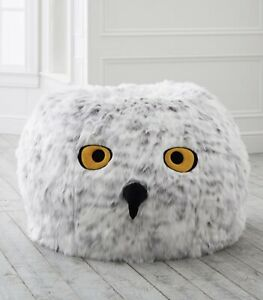 Pottery Barn Harry Potter Hedwig Owl Bean Bag Chair Fur Cover