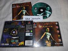 Tomb Raider 1 original PS1 (BIG BOX COMPLETE) Sony PlayStation rare black label