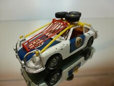MEBETOYS A51 PORSCHE 912 RALLY # 58 - WHITE + BLUE 1:43 - GOOD CONDITION