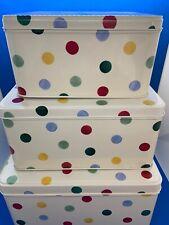 Emma Bridgewater Polka Dot Set of 3 Nesting Square Cake Tins