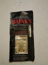 006 Vintage Brinks Security Marking System-nib Sanford Pen 1974