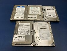 """Lot (5) 500GB 3.5"""" SATA Desktop Hard Drives, Major Brands, Tested and Wiped"""