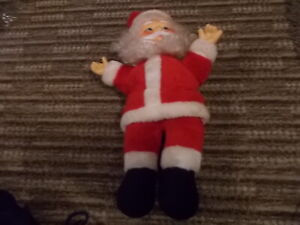 VINTAGE 15 INCH FATHER CHRISTMAS PLUSH TOY GOOD CONDITION