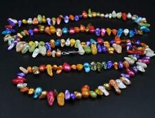 "45"" long multicolor freshwater blister pearl necklace 6-9*9-20mm"