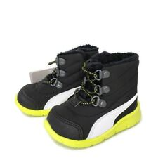 PUMA Baby Boot Bao3  Black Yellow  Winter Sneaker Boots Size 4C Little Boy's