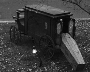 Antique Funeral Carriage Photo 529b Odd Strange & Bizarre