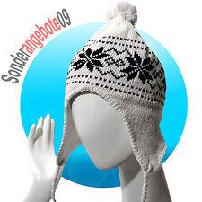 Castelli Inka Mütze Modell Norge Wintermütze warm Bommelmütze weiß Schnee