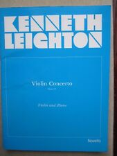 Concerto op 12 for Violin and Piano by Leighton *NEW*  Novello