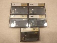 5 x JVC Mini DV cassettes, 60ME DVM60, used