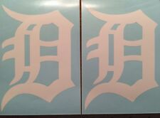 "Detroit Tigers Old English D 2 Pack-White Vinyl Decal 4""x 5.75""**FREE SHIPPING**"