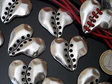 ¡¡OFERTA 2x1!! 7 Entrepiezas Zamak CORAZONES corazon abalorios pulseras (CZ-18)