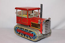 1960's Made in China MF 154 Tin Friction Tractor on Tracks, Original