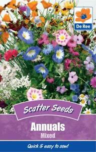 PACKET of ANNUALS Mixed 225 Flower Garden SCATTER SEEDS