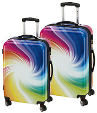 Trolley Set Trolly Reise Koffer Carbonat Twister XL +  L
