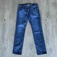 7 For All Mankind Slimmy Slim Stretch Medium Wash Denim Jeans Mens Size 36 x 33