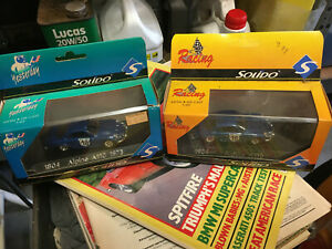 Solido Alpine Renault A110 1600S 1:43 models pair.