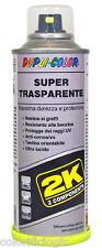 SUPER TRASPARENTE SPRAY 2K BICOMPONENTE PROFESSIONALE CARROZZERIA VESPE AUTO