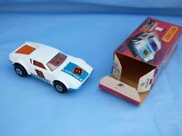 Vintage 1975 Matchbox Superfast No 8 White De Tomaso Pantera Blue Base Toy Car