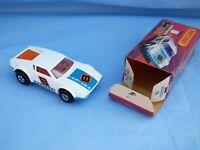 Vintage 1975 Matchbox Superfast No 8 White De Tomaso Pantera Blue Base Toy Car
