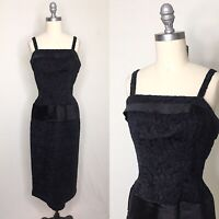 Vintage 50s 60s Suzy Perette Lace Cocktail Dress Size Small/Medium