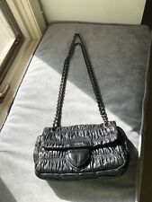 Prada Gaufre Chain Flap Shoulder Bag Nappa Leather