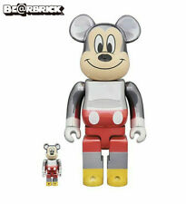 Disney Medicom x Fragment Mickey Mouse 90th D23 400% 100% Bearbrick Set In Hand