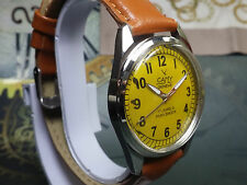 VINTAGE CAMY 17JEWELS HAND-WINDING SWISS MADE MEN'S ANALOG DIAL WRIST WATCH AC28